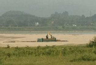 Phú Thọ: Công ty TNHH Xây dựng và Đầu tư Thành Công khai thác cát sai giấy phép!