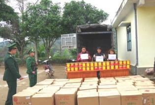 Cao Bằng: Bắt 3 đối tượng vận chuyển 1,35 tấn pháo lậu