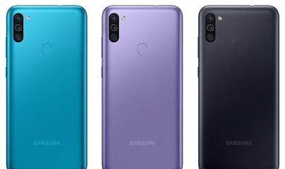 Samsung Galaxy M11 sở hữu màn hình đục lỗ với 3 camera sau
