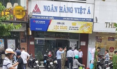 TPHCM: Đối tượng dùng súng cướp ngân hàng táo tợn ở quận Bình Thạnh
