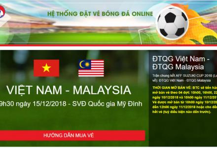 10h sáng nay, VFF bắt đầu bán vé trận chung kết Việt Nam và Malaysia