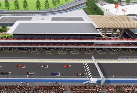Hà Nội tổ chức lại nhiều tuyến buýt để thi công trường đua F1