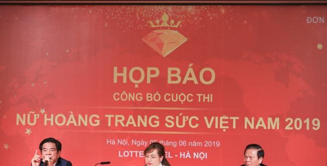 """Họp báo công bố cuộc thi """"Nữ hoàng trang sức Việt Nam 2019"""""""
