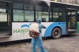Hà Nội: Thực hiện giãn cách, khử khuẩn trên phương tiện giao thông công cộng