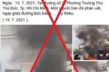 Thông tin về người dân bức xúc tự thiêu tại TP.Thủ Đức là sai sự thật