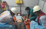 Cấp cứu thành công thuyền trưởng bị viêm ruột thừa cấp trên biển