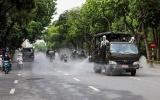 Hà Nội phun hóa chất khử khuẩn diện rộng tại 7 quận, huyện