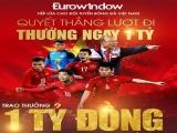 Eurowindow 'chơi lớn', thưởng 1 tỷ đồng cho cầu thủ đầu tiên ghi bàn trên sân Bukit Jalil