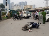 Nữ tài xế lái xe Mercedes đâm liên hoàn ở Cầu Giấy khai đạp nhầm chân ga