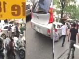 Hà Nội: Vi phạm giao thông, tài xế ôtô cố tình đâm CSGT rồi bỏ chạy