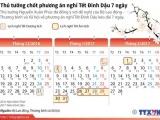 Thông báo lịch nghỉ Tết Âm lịch Đinh Dậu 7 ngày