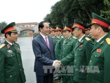 Chủ tịch nước thăm, chúc Tết Bộ Tư lệnh Quân khu 4