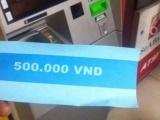 Kỳ lạ cây rút tiền ATM nhả ra tờ giấy in chữ 500 nghìn đồng
