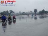 Rãnh áp thấp mạnh thêm, gây mưa lớn trên diện rộng ở Bắc Bộ