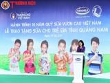 Hơn 46.000 ly sữa được trao tặng trẻ em tỉnh Quảng Nam