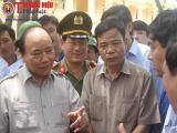 Thủ tướng thị sát hiện trường thiệt hại sau bão số 10 tại Nghệ An