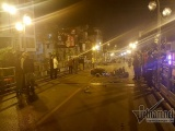 Hà Nội: TNGT nghiêm trọng trên cầu vượt Thái Hà lúc nửa đêm