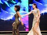 Mâu Thủy tỏa sáng trong đêm bán kết Miss Universe Vietnam 2017 với váy dạ hội 'khủng' và hành động đẹp