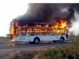 Xe buýt tại Kazakhstan bốc cháy dữ dội, 52 người thiệt mạng