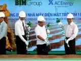 Khởi công xây dựng nhà máy điện mặt trời đầu tiên ở Ninh Thuận