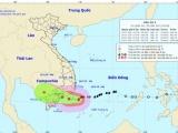 Bão số 9 gây mưa lớn cho các tỉnh phía Nam