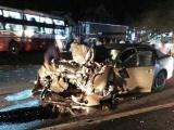 Lâm Đồng: Xe khách đâm trực diện xe 4 chỗ, 2 người tử vong