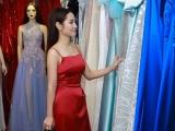 """Mỹ nữ """"trầm hương"""" Ngọc Anh thử trang phục trước chung kết hoa hậu"""