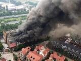 Hà Nội: Cháy dữ dội dãy nhà liền kề gần Thiên Đường Bảo Sơn