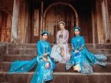 Ngọc Hân thiết kế áo dài từ cảm hứng về Nhã nhạc cung đình Huế