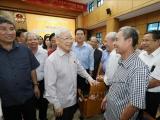 Tổng bí thư, Chủ tịch nước Nguyễn Phú Trọng tiếp xúc cử tri tại Hà Nội