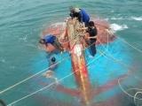Tàu cá cùng 12 ngư dân gặp nạn ở vùng biển Cù Lao Chàm
