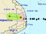 Dự báo thời tiết ngày 31/10: Bão số 5 suy yếu thành áp thấp nhiệt đới, Trung Bộ và Tây Nguyên mưa lớn