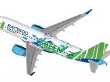 Bamboo Airways 'nghệ thuật hóa' thông điệp Bay Xanh trên chiếc A320neo đầu tiên tại VN