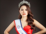 Á hậu Châu Á Hà Vi Vi chụp ảnh cùng vương miện sau 1 tháng đăng quang