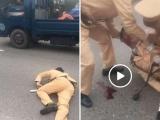 Hà Nội: Đôi nam nữ vượt đèn đỏ tông gục Trung uý CSGT