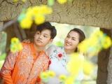 Người mẫu Anh Thư và con trai diện áo dài của NTK Minh Châu