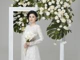 NSƯT Quế Trân hóa cô dâu với áo dài cưới Minh Châu