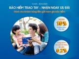 Khách hàng gửi tiết kiệm tại Sacombank được ưu đãi mua bảo hiểm