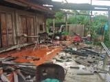 Hà Tĩnh: Mưa lớn kèm theo lốc xoáy khiến 140 căn nhà bị tốc mái