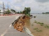 An Giang: Ban bố tình trạng sạt lở nghiêm trọng Quốc lộ 91
