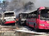 Thanh Hóa: Nhiều xe đưa đón công nhân bất ngờ bốc cháy