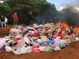 Gia Lai: Tiêu hủy hơn 10 tấn hàng giả, hàng lậu, hàng cấm
