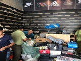 Bình Dương: Tạm giữ 480 đôi giày giả thương hiệu Nike, Adidas