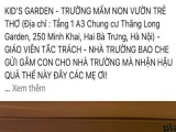 Hà Nội: Xác minh sự việc một trẻ bị gãy tay trong trường mầm non Vườn trẻ thơ