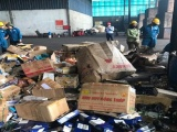 Vũng Tàu: Tiêu hủy hơn 12.000 sản phẩm hàng hóa nhập lậu