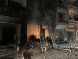 Giải cứu thành công 5 người mắc kẹt trong vụ cháy tại cơ sở kinh doanh gas