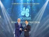 Hòa Bình nhận giải Doanh nghiệp xuất sắc Châu Á và Top 100 Nơi làm việc tốt nhất 2020