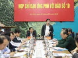 Phó Thủ tướng Trịnh Đình Dũng chỉ đạo công tác ứng phó với bão số 10