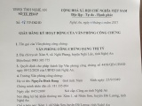 Nghi Lộc - Nghệ An: Ra mắt Văn phòng công chứng Đặng Thị Tý tại xã Nghi Phong