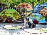 'Tiếng lòng' của nghệ nhân gửi gắm trong quạt nghệ thuật Chàng Sơn